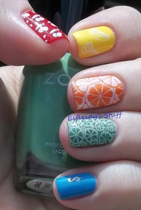 Skittles nails nail art by Jenette Maitland-Tomblin