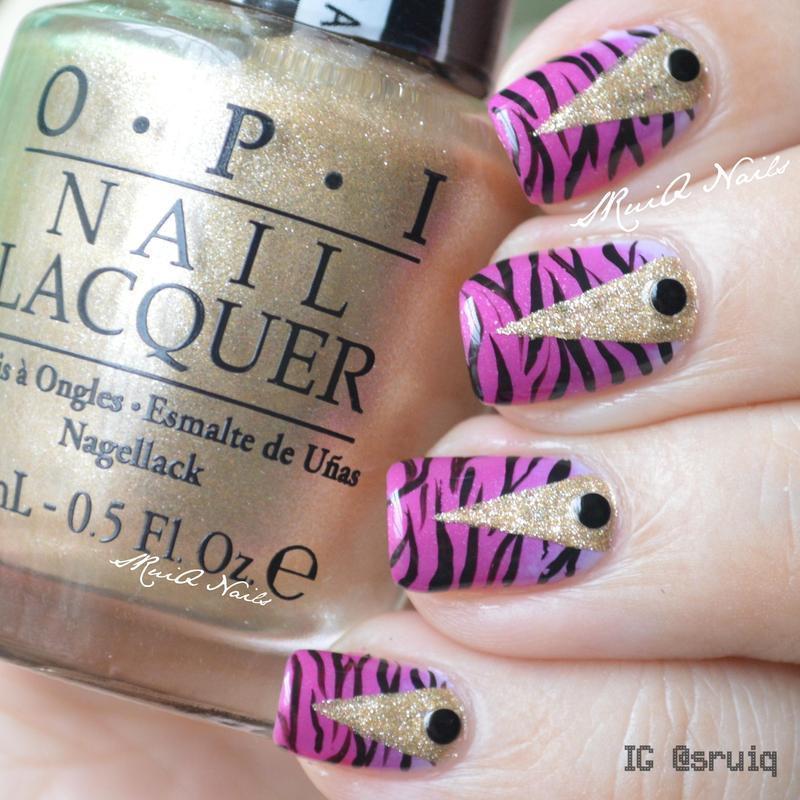Pointer on Zebra Prints nail art by Sarah