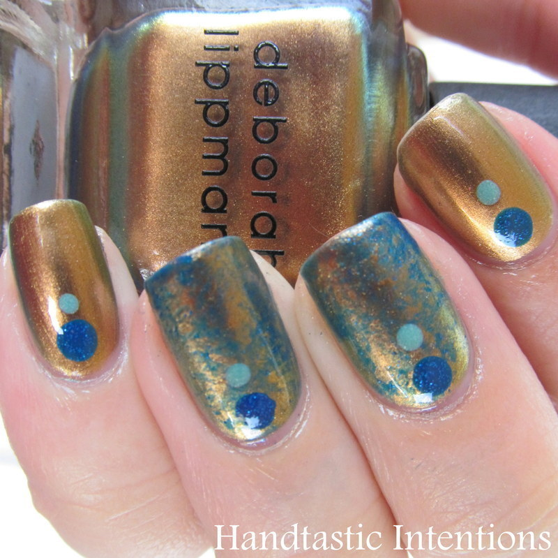 Gold Marble nail art by Andrea