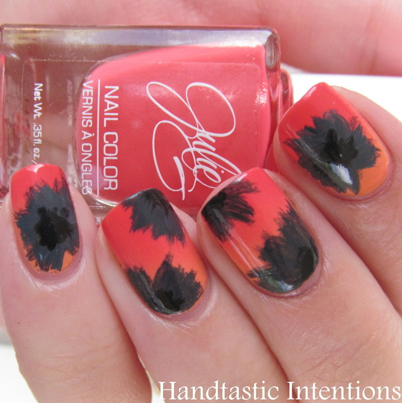 Memorial Day Poppies nail art by Andrea