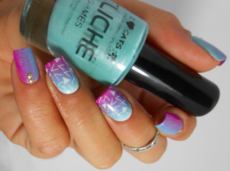 Nail art gradient et stamping pueen nail art by melyne nailart nail art gradient et stamping pueen nail art by melyne nailart prinsesfo Choice Image