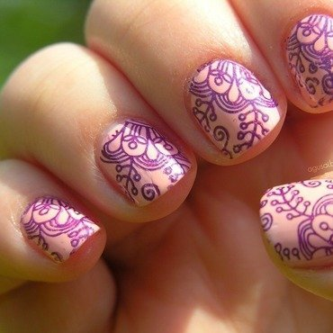 Stamping addiction nail art by Agni