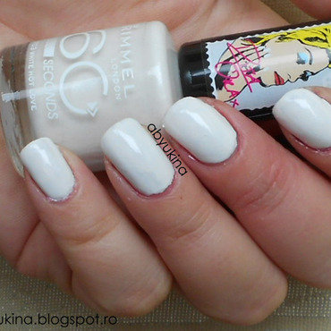 Rimmel 703 white hot love Swatch by Aby