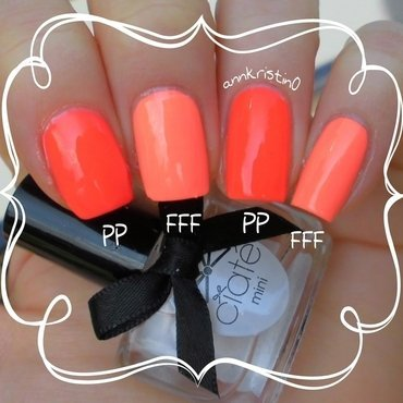 China Glaze Flip Flop Fantasy and China Glaze Pool Party Swatch by Ann-Kristin