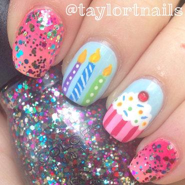 Birthday Nails nail art by taylortnails