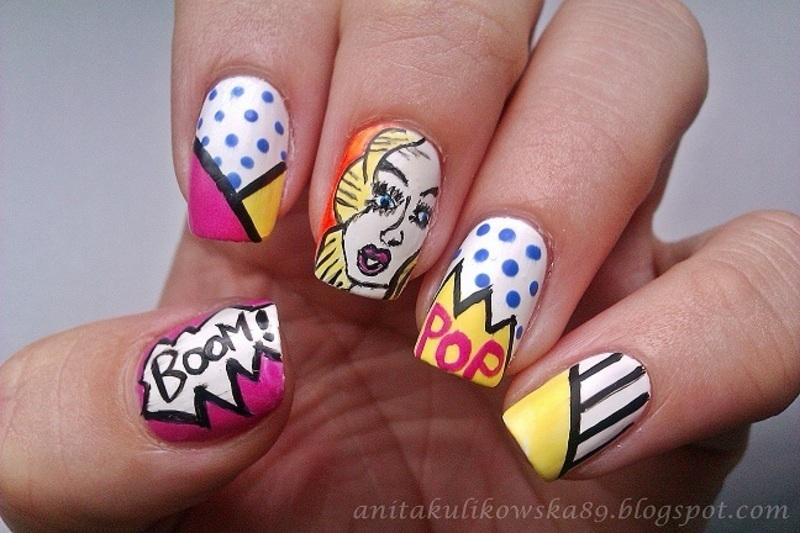 POP ART with Rita Ora nail art by Anita