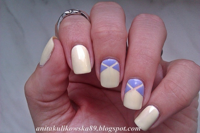 Triple Triangle nail art nail art by Anita