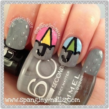 Rain Rain Go Away! nail art by Nicole Louise