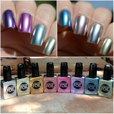 Sally Hansen color foils Swatch by The Polished Mommy