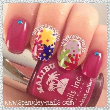 Paint Splatter Nail Art nail art by Nicole Louise