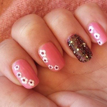 Punk princess nail art by lazy nail blogger