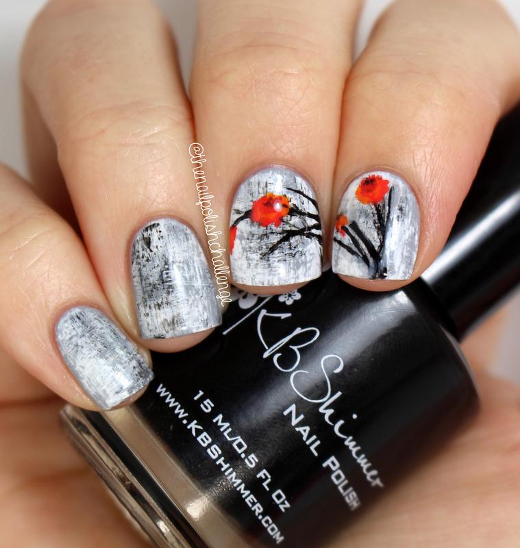 Grungy Floral Nails nail art by Kelli Dobrin