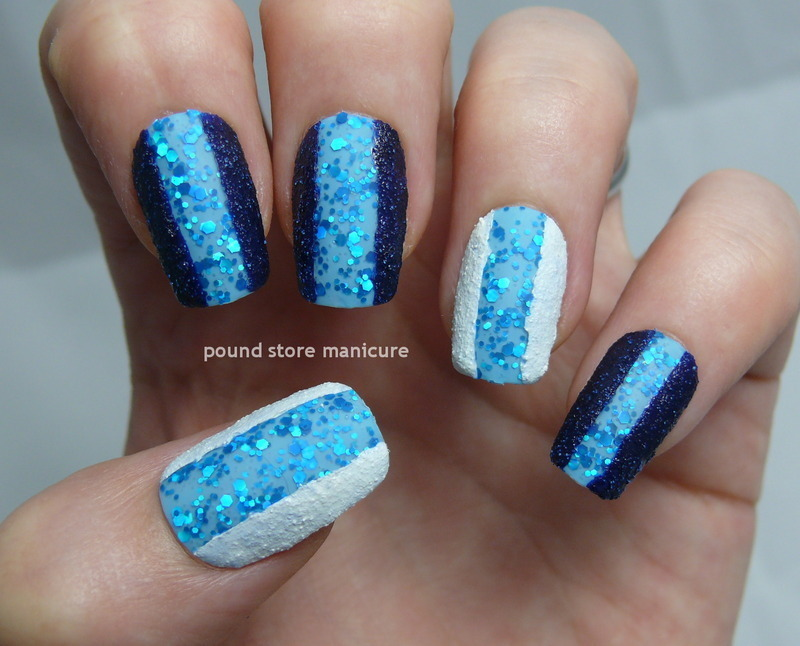 Experiment with Texture nail art by Pound Store Manicure