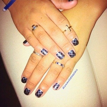 Diamonds are forever nail art by Marilyn
