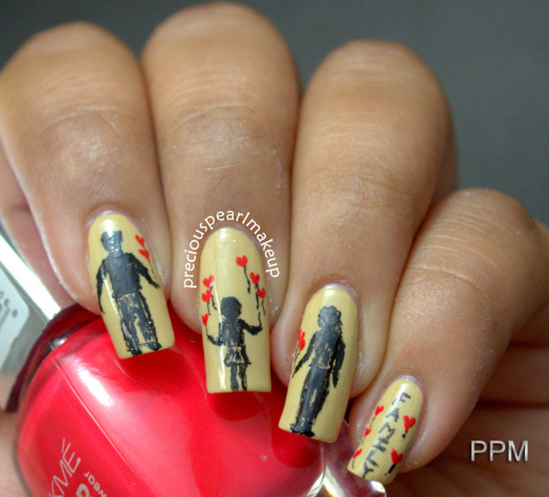 Family nail art by Pearl P. - Nailpolis: Museum of Nail Art
