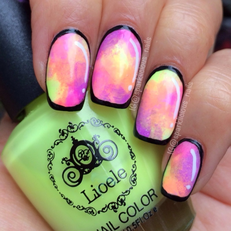 "Neon Cartoon Nails nail art by Amanda ""Sparklicious Nails"""