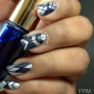 Matte Blue nail art by Pearl P.