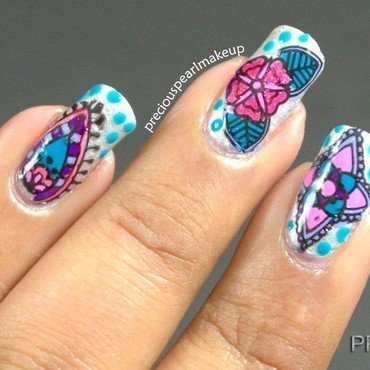Delicate Prints nail art by Pearl P.