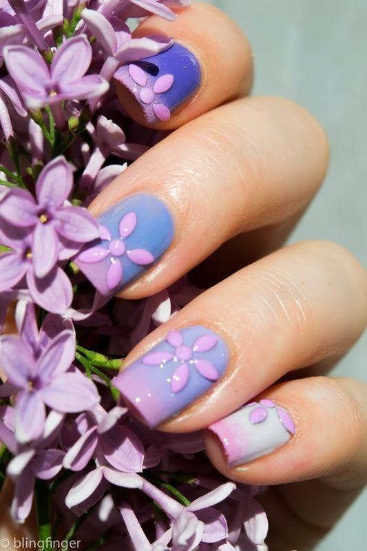 Lilac Nails nail art by  Petra  - Blingfinger
