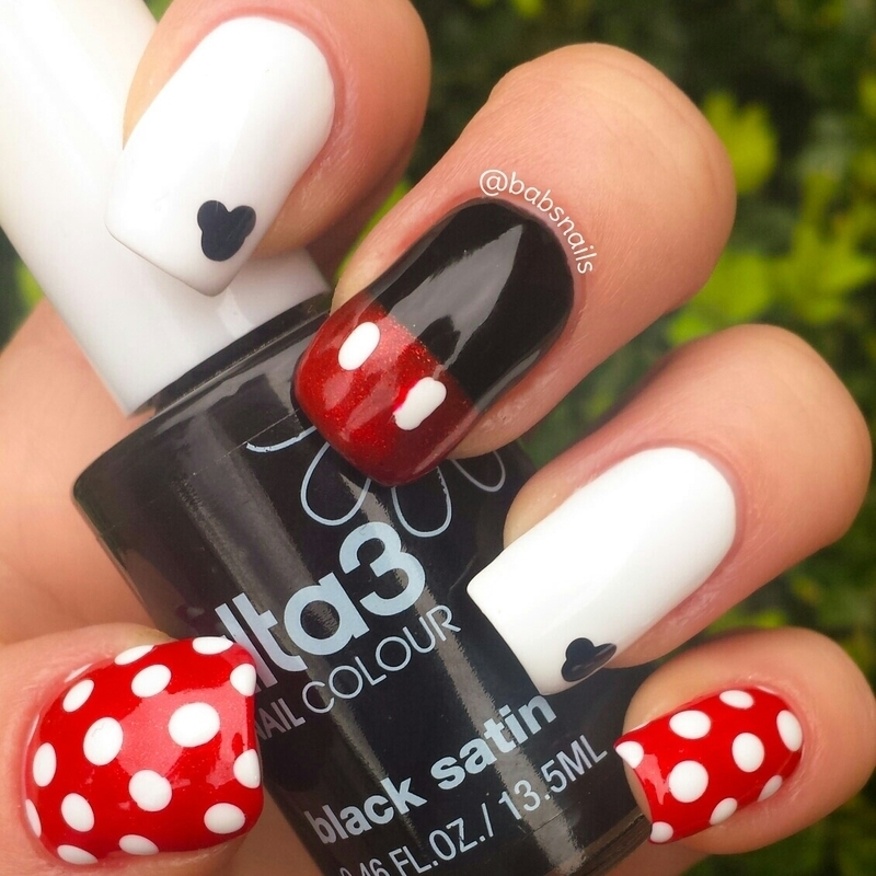 Mickey Mouse Nails nail art by Brooke (babs)