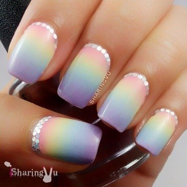 ✨✨✨PASTEL GRADIENT💜💙💛💖 nail art by SharingVu