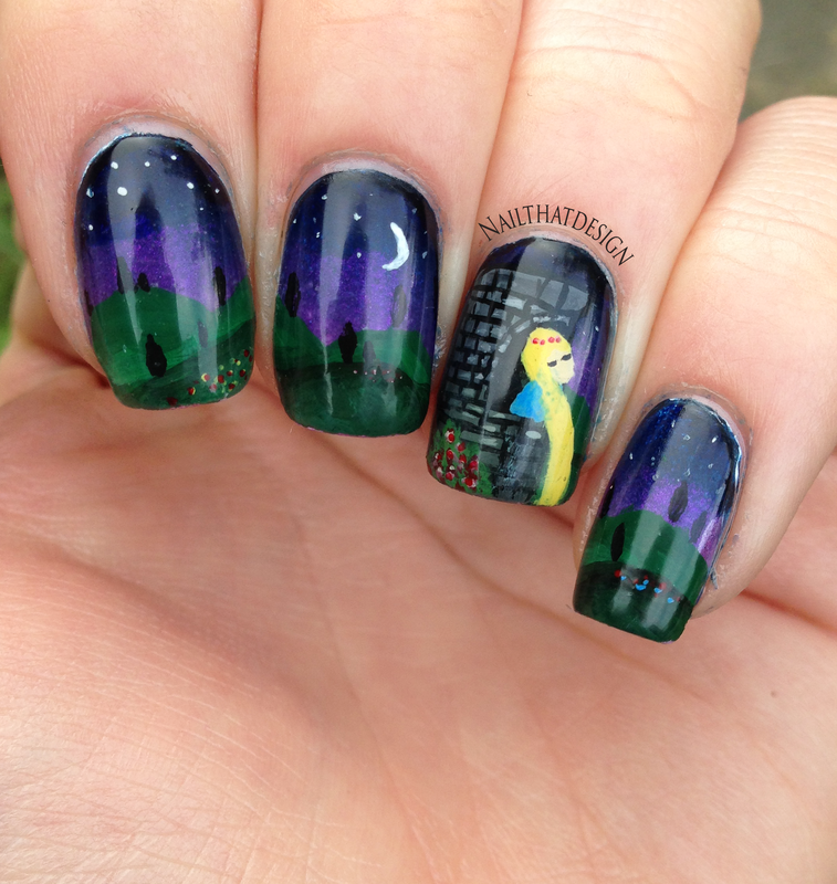 Rapunzel Nails: Rapunzel Nail Art Nail Art By NailThatDesign
