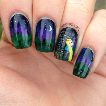 Rapunzel Nail Art nail art by NailThatDesign