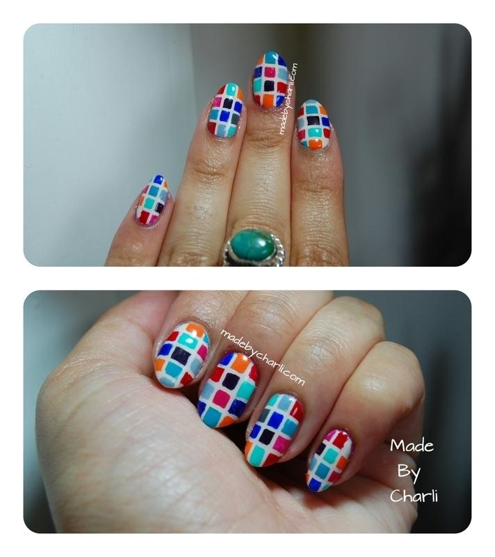 Mosaic nail art by Charli Searchwell-Guest