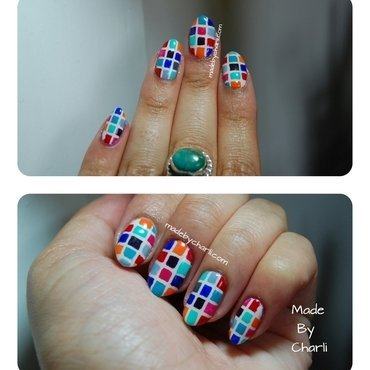Mosaic nail art by Charli Searchwell-Guest