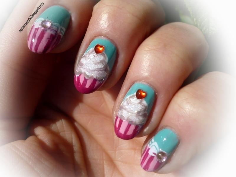 Cupcake nail art by T. Andi