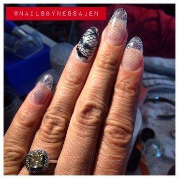 Lace Love nail art by Vanessa Jenelle