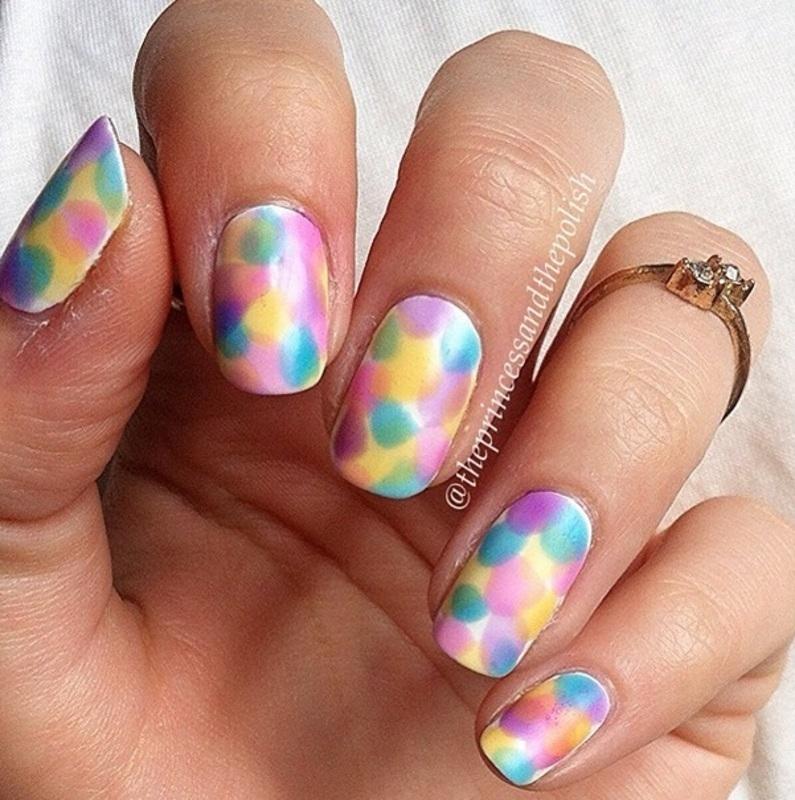 Opi Sheer Tints  nail art by Alexandra