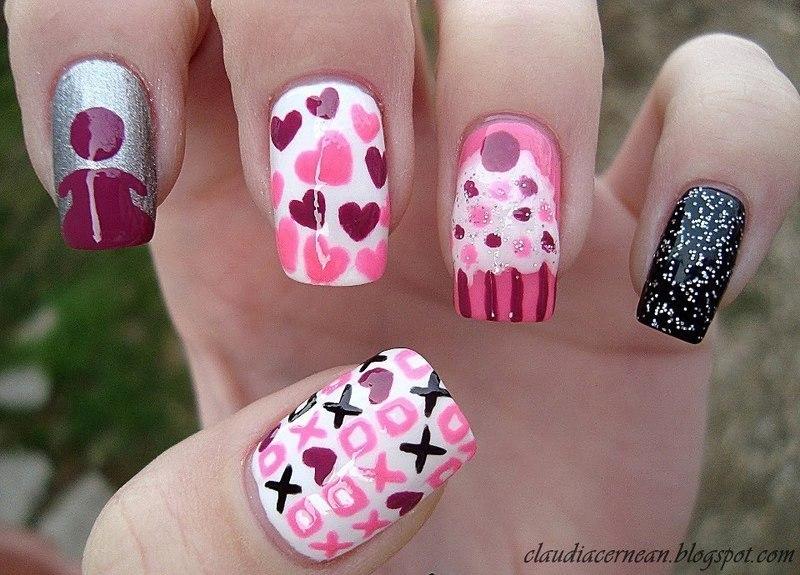 Girly Nails nail art by Claudia