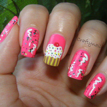 Pink birthday nails thumb370f