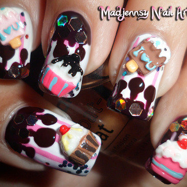 Cupcake ice cream reloaded 3d nail art2 thumb370f