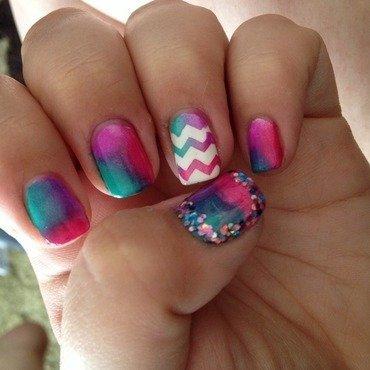 Tie Dye nail art by Amanda