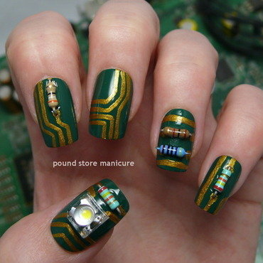 I Am Cyborg nail art by Pound Store Manicure