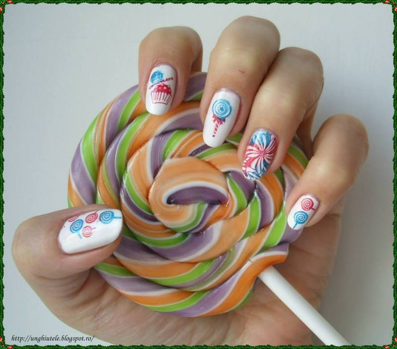 Cupcake nail art by Oana  Alexandru
