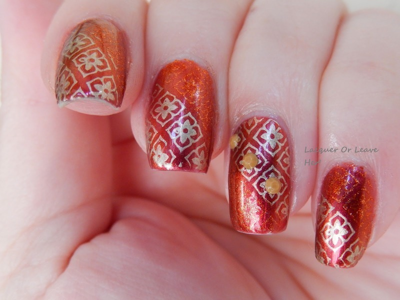 Moroccan Mosaic Nail Art By Lacquer Or Leave Her Michelle Chouinard