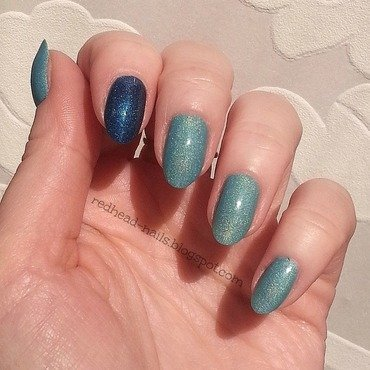 Colour Alike Maltanka and Colour Alike Niebieskie migdały Swatch by Redhead Nails