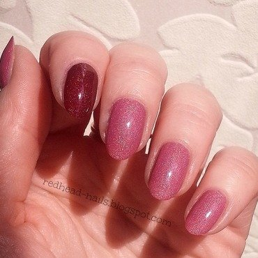 Colour Alike Wata cukrowa and Colour Alike O w bombkę! Swatch by Redhead Nails