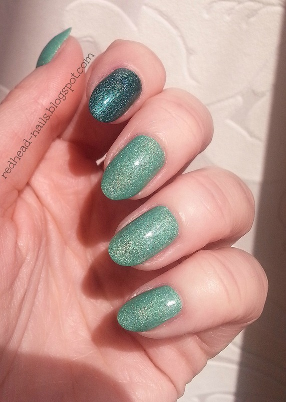 Colour Alike Bamberka and Colour Alike To był maj Swatch by Redhead Nails