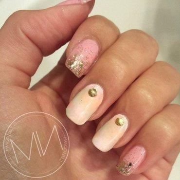 Pastel x shell nail art by Mango Nailz