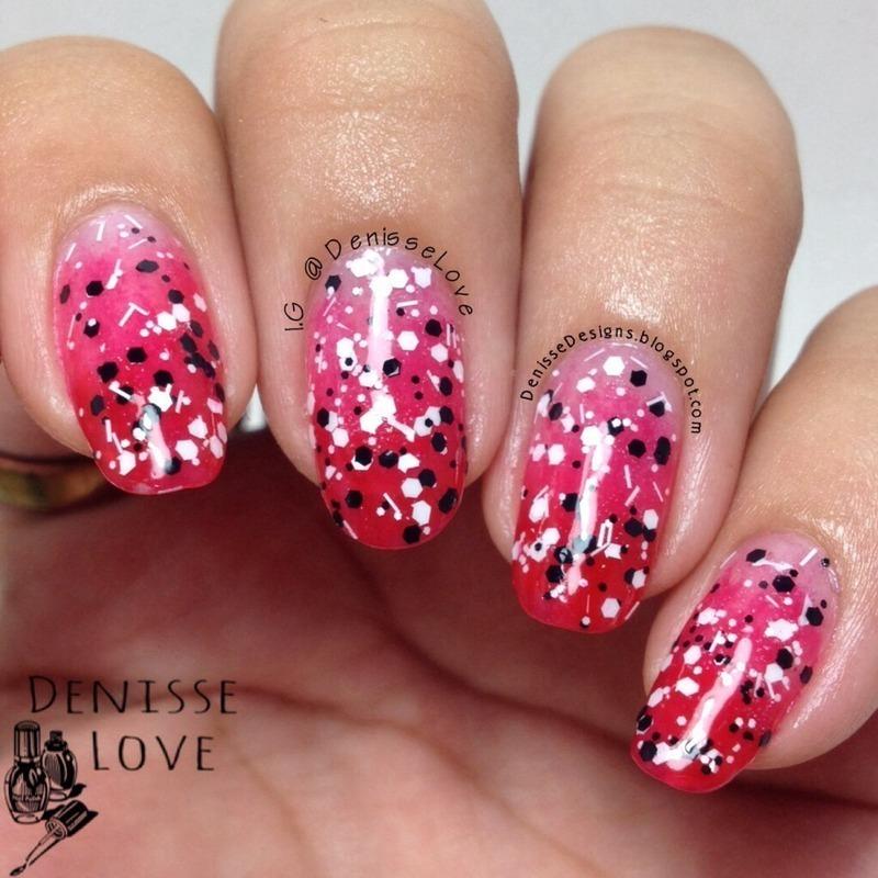 Black & White topper nail art by Denisse Love
