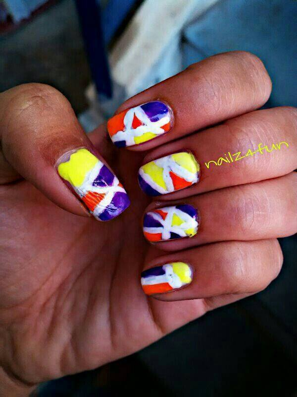 Geometric Nails nail art by Nailz4fun