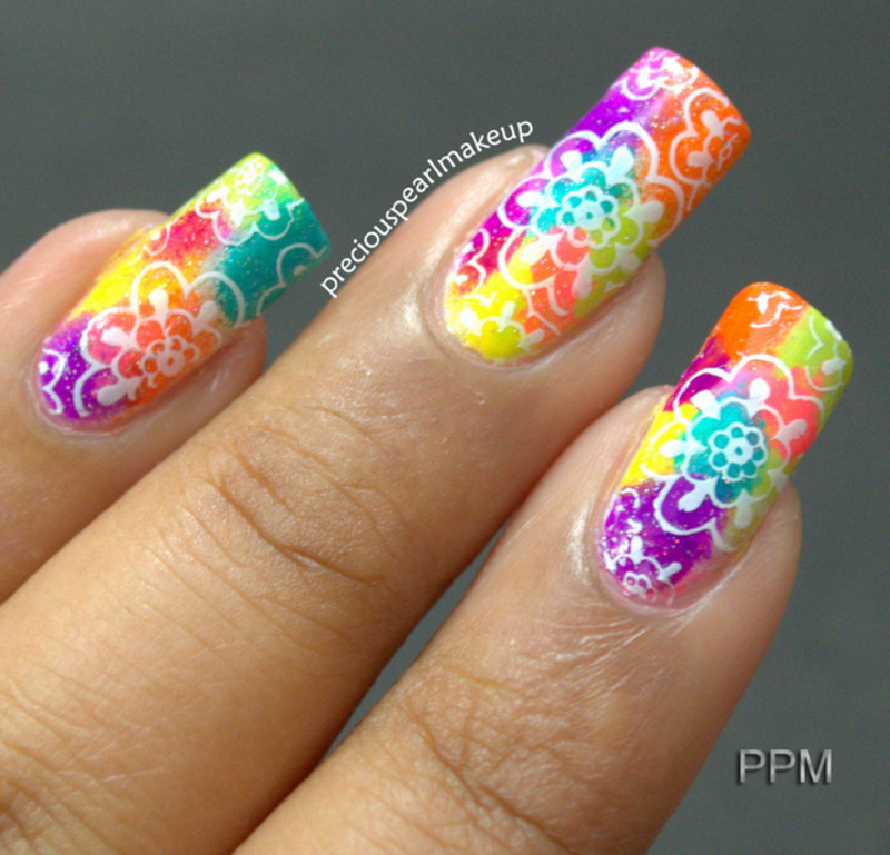 Spring Colors nail art by Pearl P.