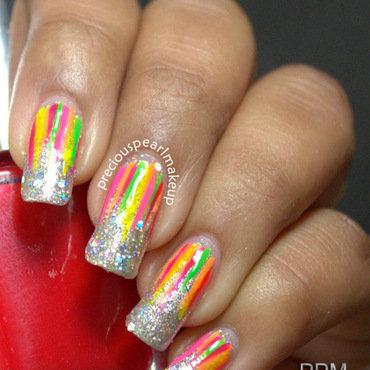 Neon waterfall nail art 001 thumb370f