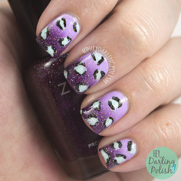 Purple Leopard Sparkles nail art by Marisa  Cavanaugh
