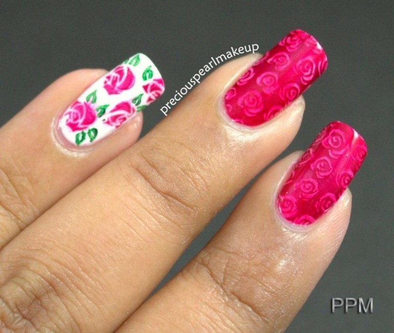 Rose Nails nail art by Pearl P.
