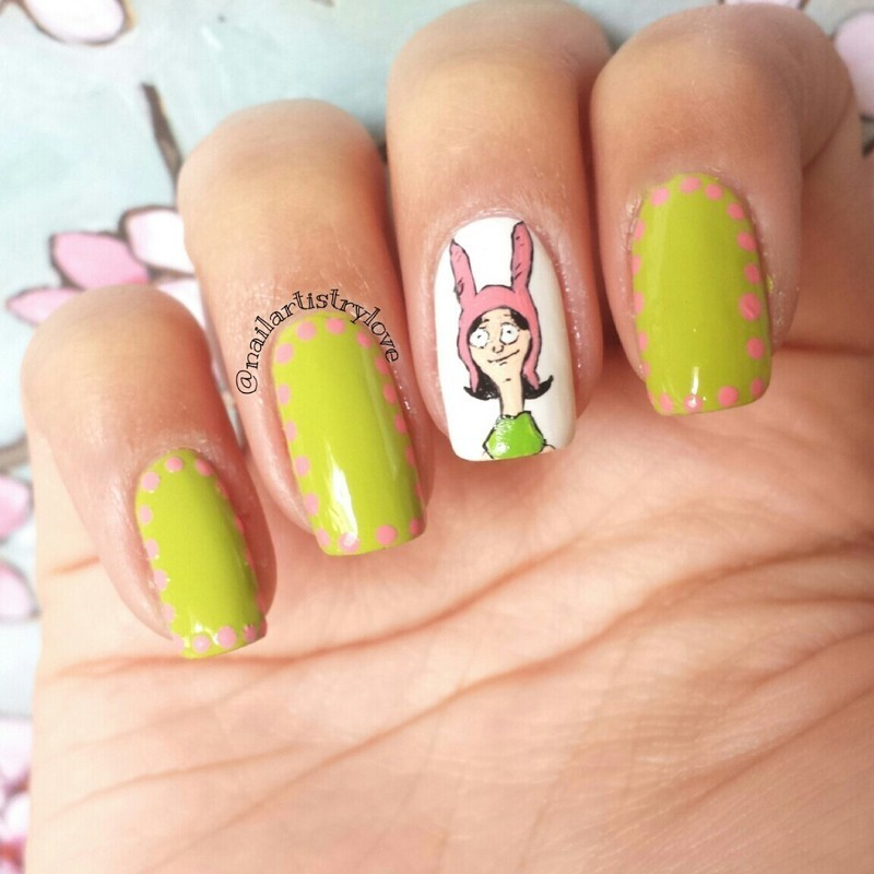 Louise nail art by Julia